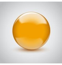 3d empty glass sphere vector