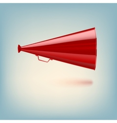 Red megaphone on colored background vector