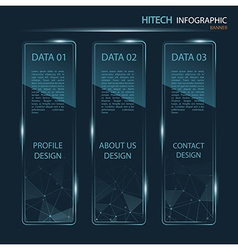 Hi-tech banner infographic vector