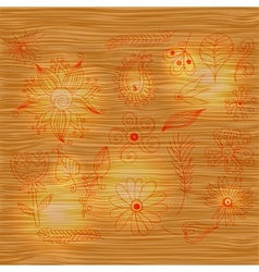 Wood pattern light texture with brown color and vector