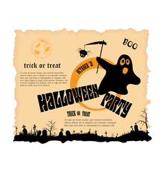 Halloween party poster with message vector