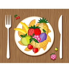 Fruit on a plate vector