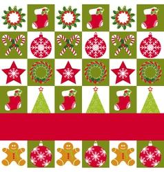 Christmas ornament seamless vector