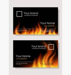 Fire business cards vector