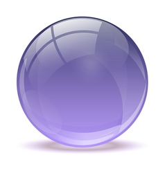 Purple abstract 3d icon ball vector