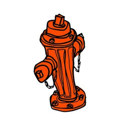 A hydrant is placed vector