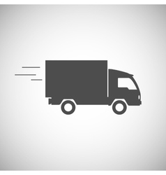 Delivery truck contour flat icon vector