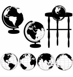 Globes silhouettes vector
