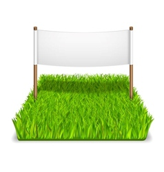 Green grass sign vector