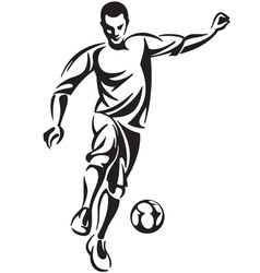 Soccer football player vector