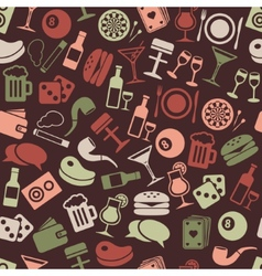 Pub seamless pattern vector