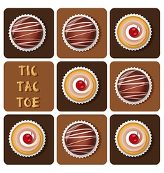 Chocolateballcupcake vector