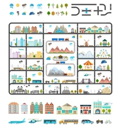 Elements of modern city - stock vector