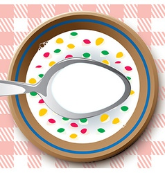 Frame as plate with cereal vector