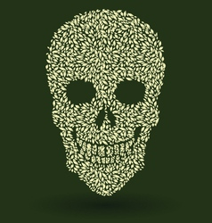 Leaf skull pattern vector