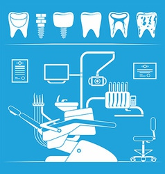 Set of dentist icons vector