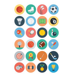 Sports flat icons - vol 1 vector