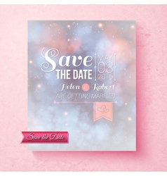 Soft ethereal save the date wedding template vector