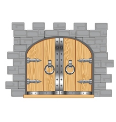 Gates in fortress vector