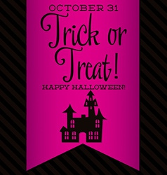 Haunted house halloween sash card in format vector