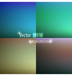 Smooth abstract colorful backgrounds set vector