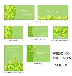 Wedding templates vector