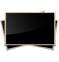 Empty vintage photo frames background vector