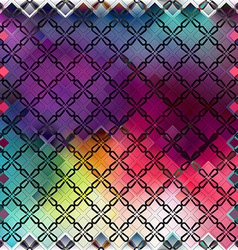 Seamless color pattern of squares vector