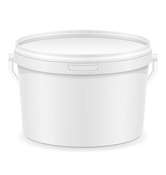 Plastic bucket for paint 03 vector