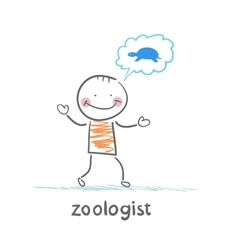 Zoologist thinks the tortoise vector