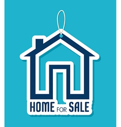 Real estate over blue background vector