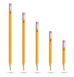 Pencils various length vector
