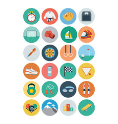 Sports flat icons - vol 2 vector