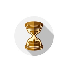 Old-fashioned simple 3d hourglass time management vector