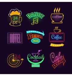 Colorful glowing neon lights vector
