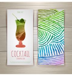 Watercolor decorative cocktail vector