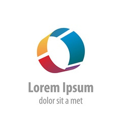 Letter o industrial logo vector