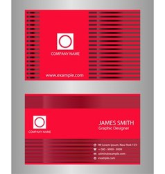 Red business card design vector