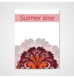 Poster whit hand drawn floral pattern vector