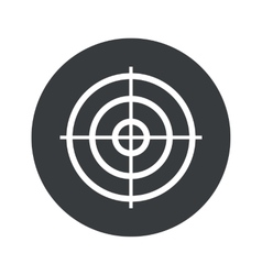 Monochrome round aim icon vector