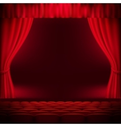 Red curtain template eps 10 vector