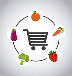 Vegetable market vector
