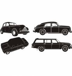 Car silhouette set vector