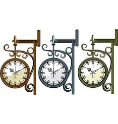 Three wall clocks vector