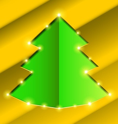 Cutout hole frame christmas tree vector