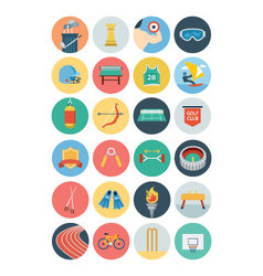 Sports flat icons - vol 3 vector