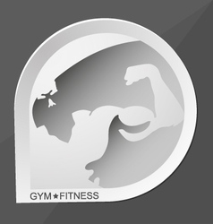 Gym and fitness vector