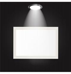White frames in art gallery vector