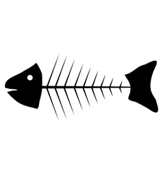 Skeleton of fish icon vector