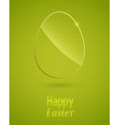 Happy easter background with glass egg vector
